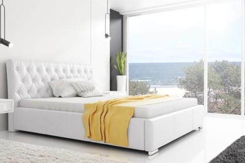 łóżko Pikowane Z Pojemnikiem Retro 160x200